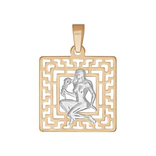 Фото - Подвеска знак зодиака SOKOLOV из комбинированного золота подвеска знак зодиака рак sokolov из комбинированного золота