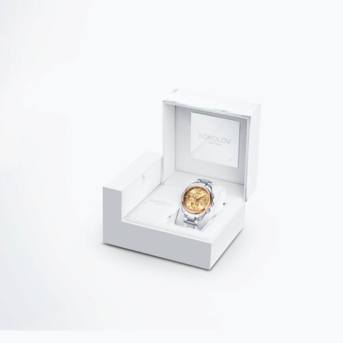 Мужские часы из золота и стали (139.01.71.000.02.01.3) - фото №4