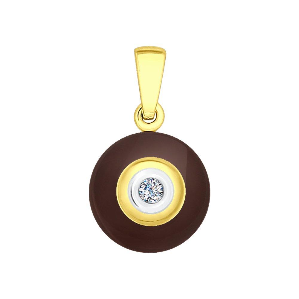 Подвеска SOKOLOV из золота с керамикой