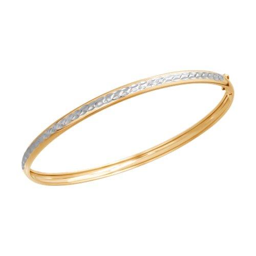 Браслет из золота с алмазной гранью (050295-4) - фото