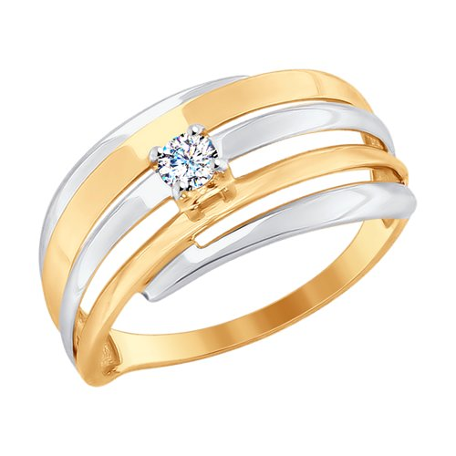 Кольцо из золота (017670) - фото