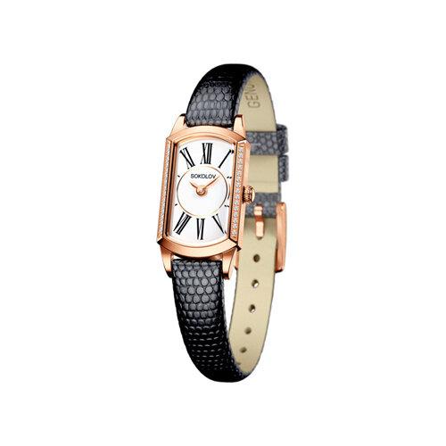Женские золотые часы (222.01.00.100.01.01.3) - фото