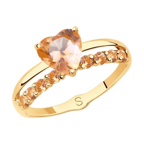 Кольцо из золота с топазами Swarovski (715368) - фото
