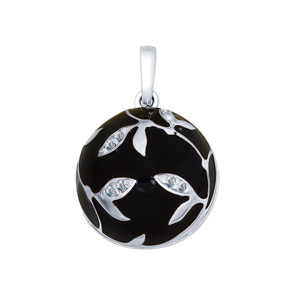 Подвеска SOKOLOV из серебра с эмалью с фианитами подвеска с 146 фианитами из серебра