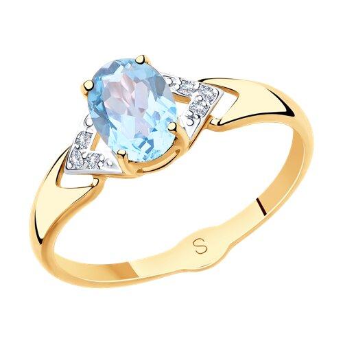 Кольцо из золота (715505) - фото