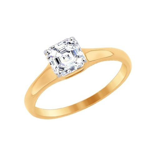 Помолвочное кольцо из золота с swarovski zirconia