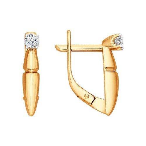 Серьги из золота с бриллиантами (1020787) - фото