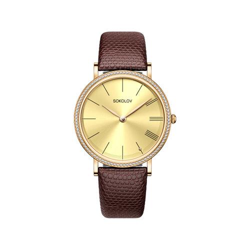 Женские золотые часы (210.02.00.001.03.03.2) - фото №2