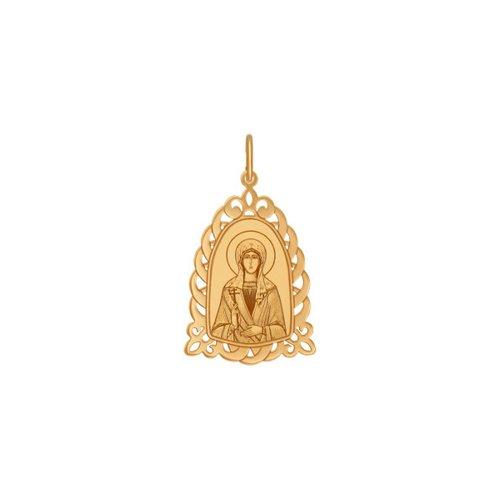 Золотая нательная иконка «Святая мученица Лариса» SOKOLOV нательная иконка святая мученица нина