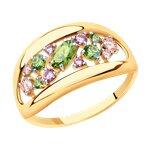 Кольцо из золота с фианитами Swarovski