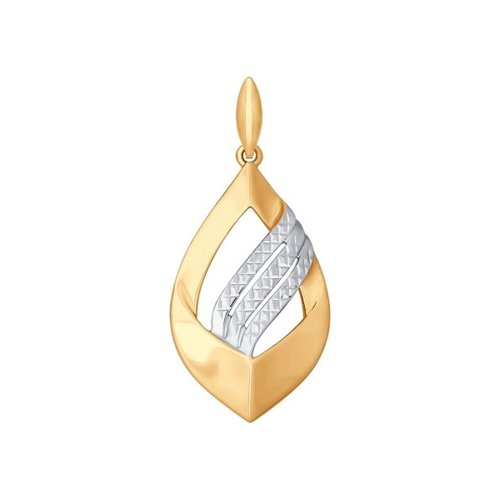 Подвеска из золота с алмазной гранью (034873) - фото