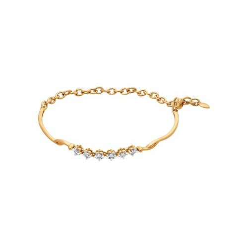 Браслет жёсткий из золота с бриллиантами
