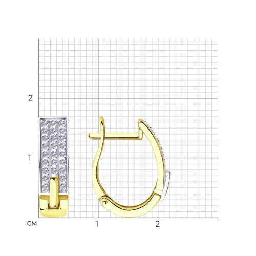 Серьги из желтого золота с бриллиантами 1021465-2 SOKOLOV фото 2