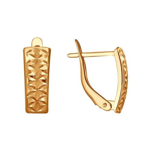 Серьги из золота с алмазной гранью (022187) - фото
