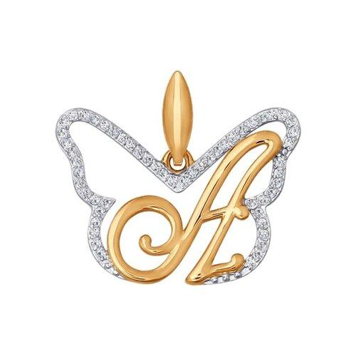 Фото - Золотая подвеска-буква «А» SOKOLOV золотая подвеска буква и sokolov