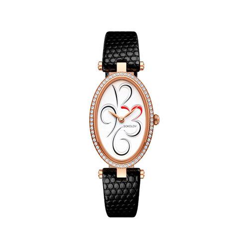 Женские золотые часы (236.01.00.100.03.01.2) - фото №2