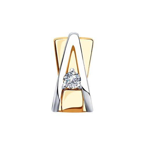 Подвеска из золота с бриллиантом 1030750 SOKOLOV фото