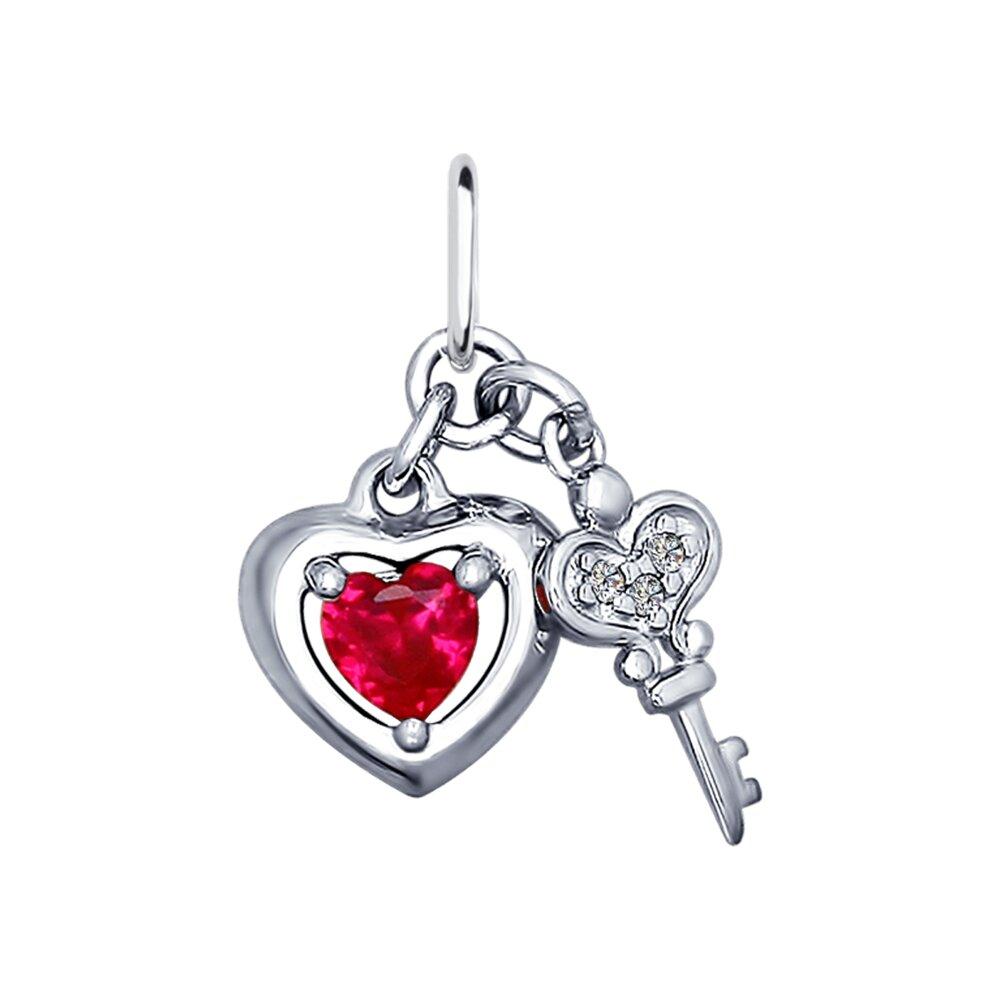 Подвеска SOKOLOV из серебра «Сердце и ключ»