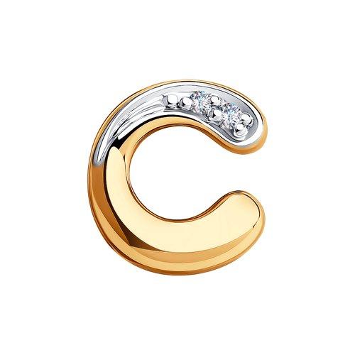 Подвеска из золота с бриллиантами (1030803) - фото