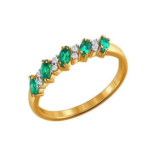 Золотое кольцо с драгоценными камнями SOKOLOV золотое кольцо ювелирное изделие 01k616351