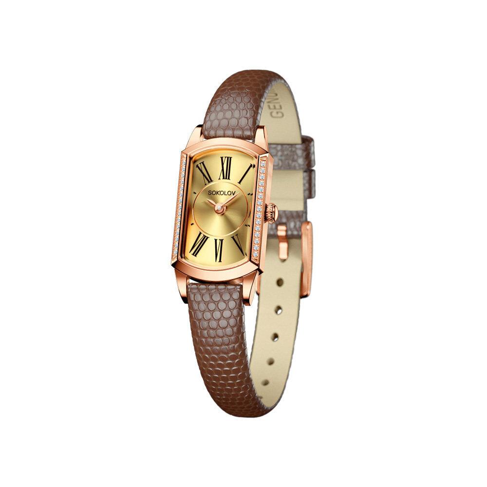 Женские золотые часы SOKOLOV женские часы guess w1231l1