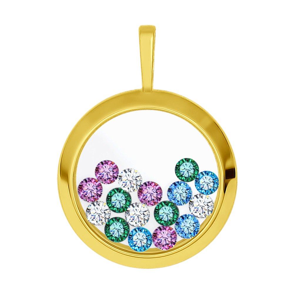 Подвеска SOKOLOV из желтого золота с минеральным стеклом и бесцветными, голубыми, зелеными и сиреневыми фианитами подвеска sokolov из желтого золота с минеральным стеклом и зелеными фианитами