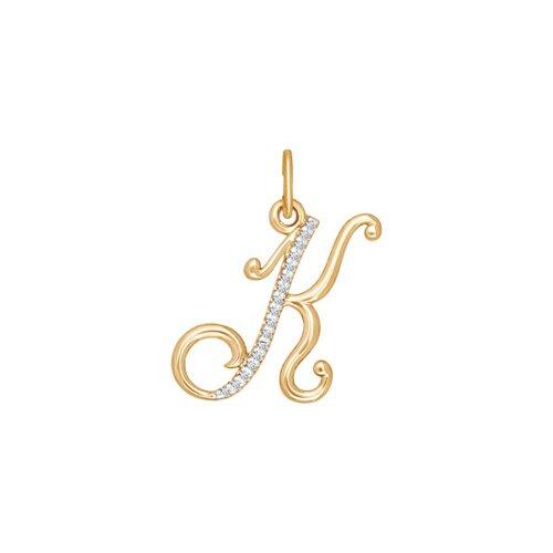 Подвеска-буква «К» из золота