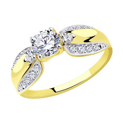 Кольцо из желтого золота (018317-2) - фото