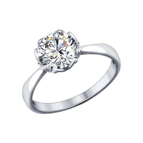 Кольцо из серебра со Swarovski Zirconia (89010034) - фото