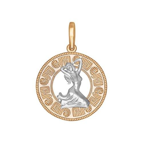 Фото - Подвеска «Знак зодиака Дева» SOKOLOV из комбинированного золота подвеска знак зодиака рак sokolov из комбинированного золота
