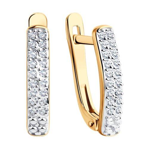 Серьги из золота с бриллиантами (1021306) - фото №2