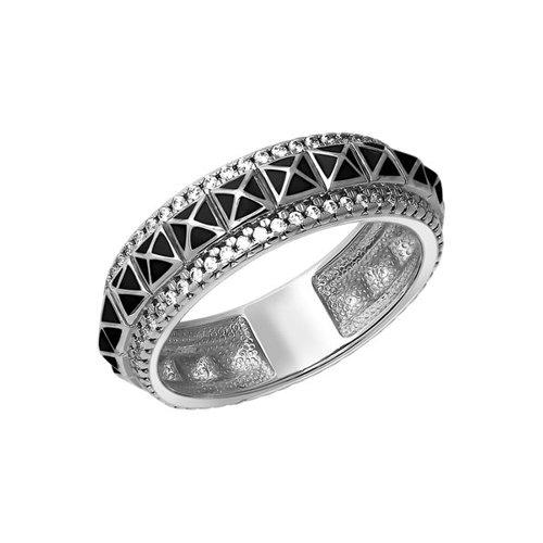 Серебряное кольцо «Геометрия» SOKOLOV