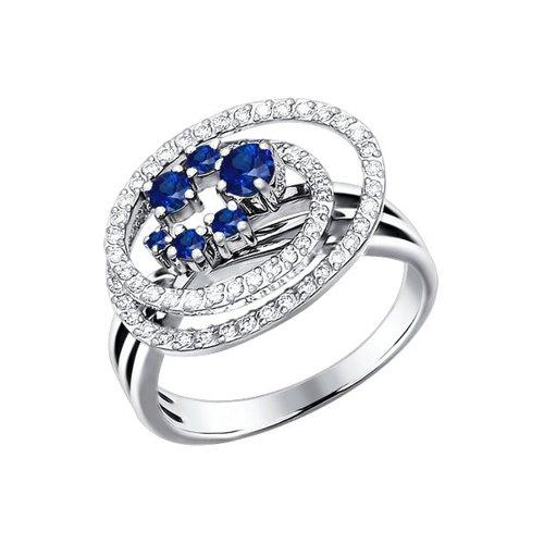 Кольцо с сапфирами и бриллиантами SOKOLOV кольцо soul diamonds женское золотое кольцо с бриллиантами и сапфирами buhk 1515 14kw