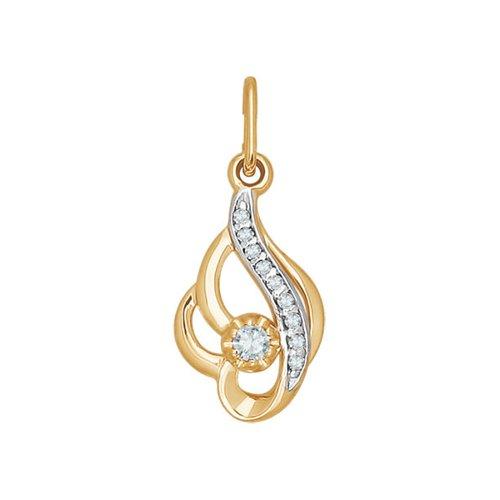 Фото - Подвеска «Колыбель» SOKOLOV из золота c фианитами подвеска змея из золота c черными фианитами