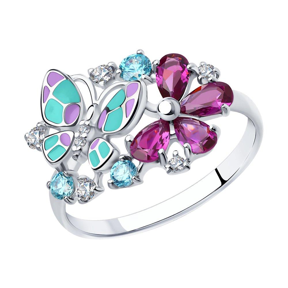 Кольцо «Бабочки» SOKOLOV из серебра фото