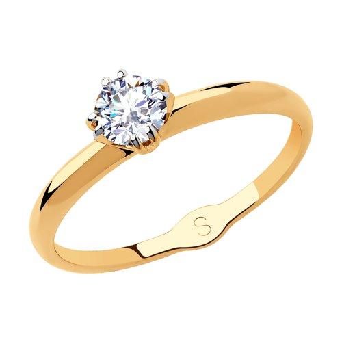 Кольцо из золота со Swarovski Zirconia (81010435) - фото