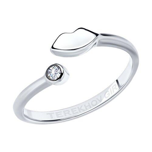 Кольцо из серебра с фианитом SOKOLOV x TerekhovGirl (94012651) - фото