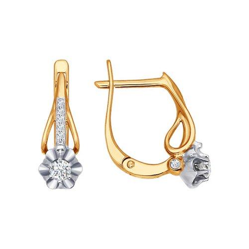 Серьги SOKOLOV из золота с бриллиантами серьги с английским замком из золота 01с164644