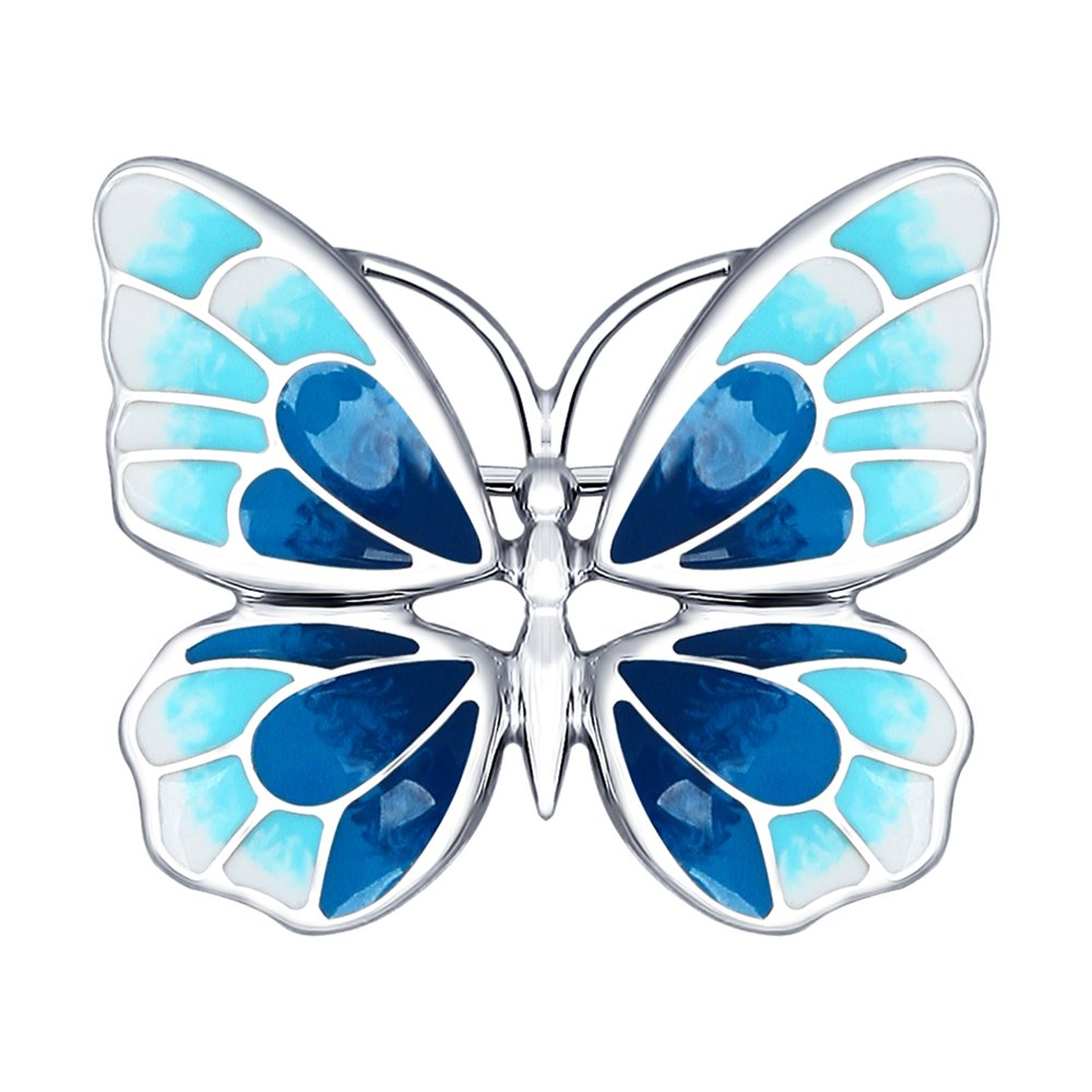 Серебряная брошь в виде бабочки SOKOLOV недорого