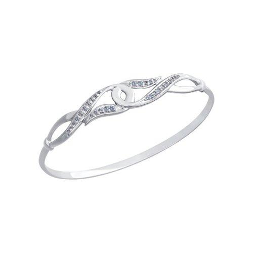 лучшая цена Жесткий серебряный браслет SOKOLOV