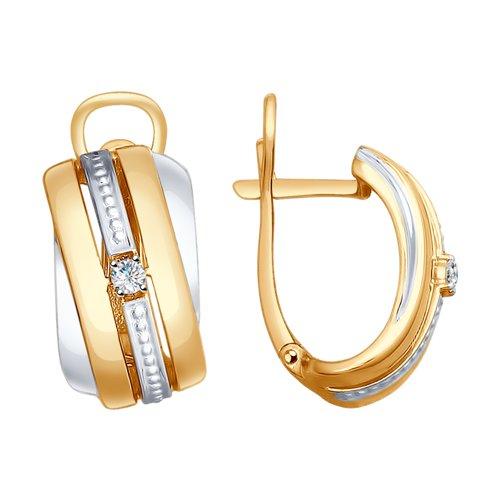 Серьги из золота с бриллиантами (1021165) - фото