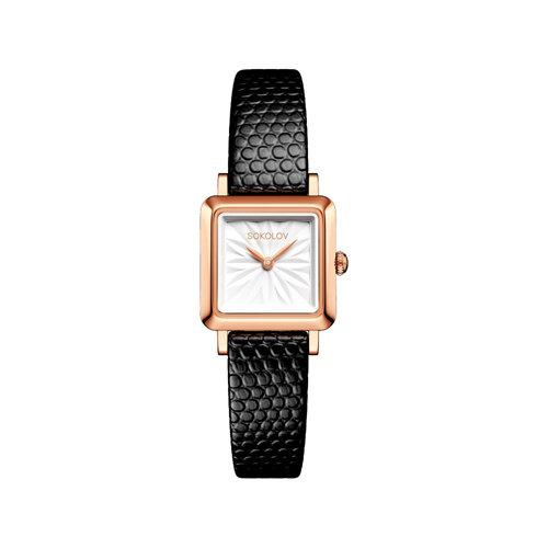 Женские золотые часы (231.01.00.000.03.01.2) - фото №2