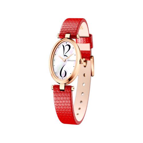 Женские золотые часы (235.01.00.000.05.03.2) - фото