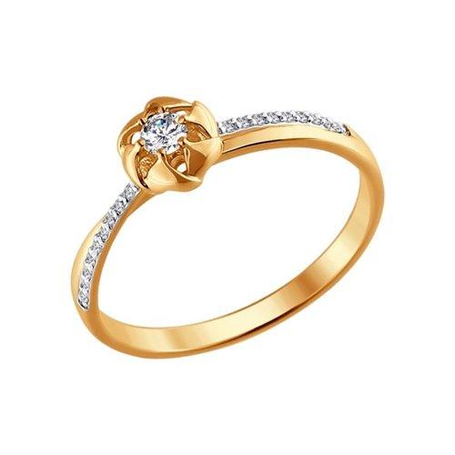 Кольцо из золота с бриллиантами (1011316) - фото