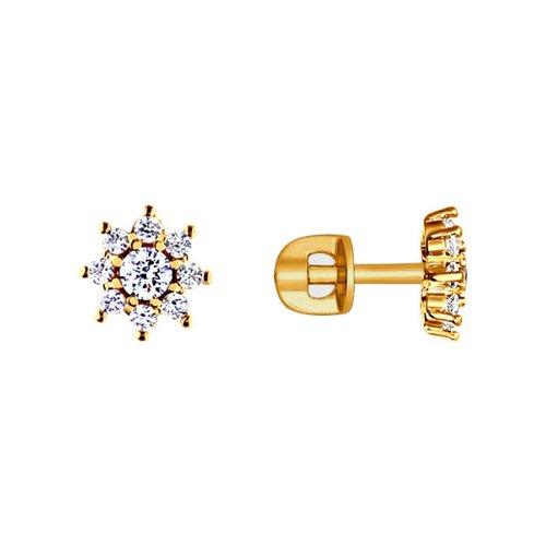 Серьги-пусеты SOKOLOV из золота со swarovski zirconia серьги пусеты sokolov из золота со swarovski zirconia