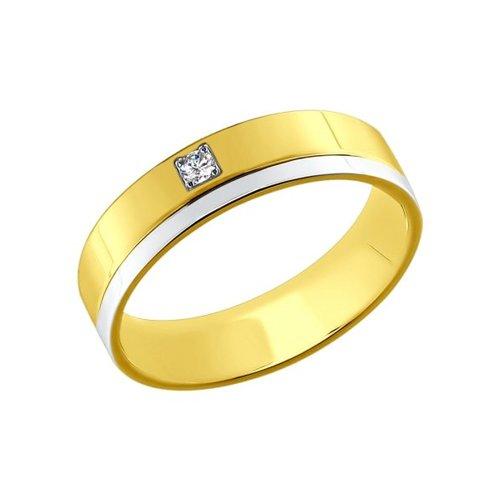 Кольцо SOKOLOV из желтого и белого золота вращающееся ювелирное кольцо sokolov