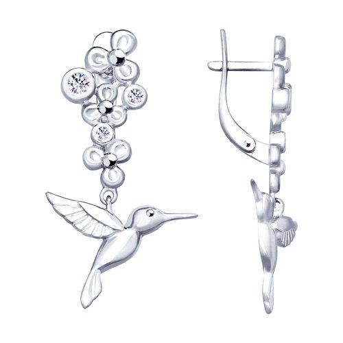цена на Серебряные серьги «Колибри» SOKOLOV