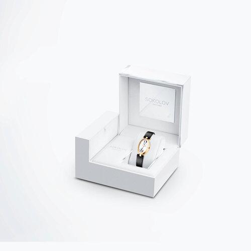 Женские золотые часы (235.02.00.000.05.01.2) - фото №4