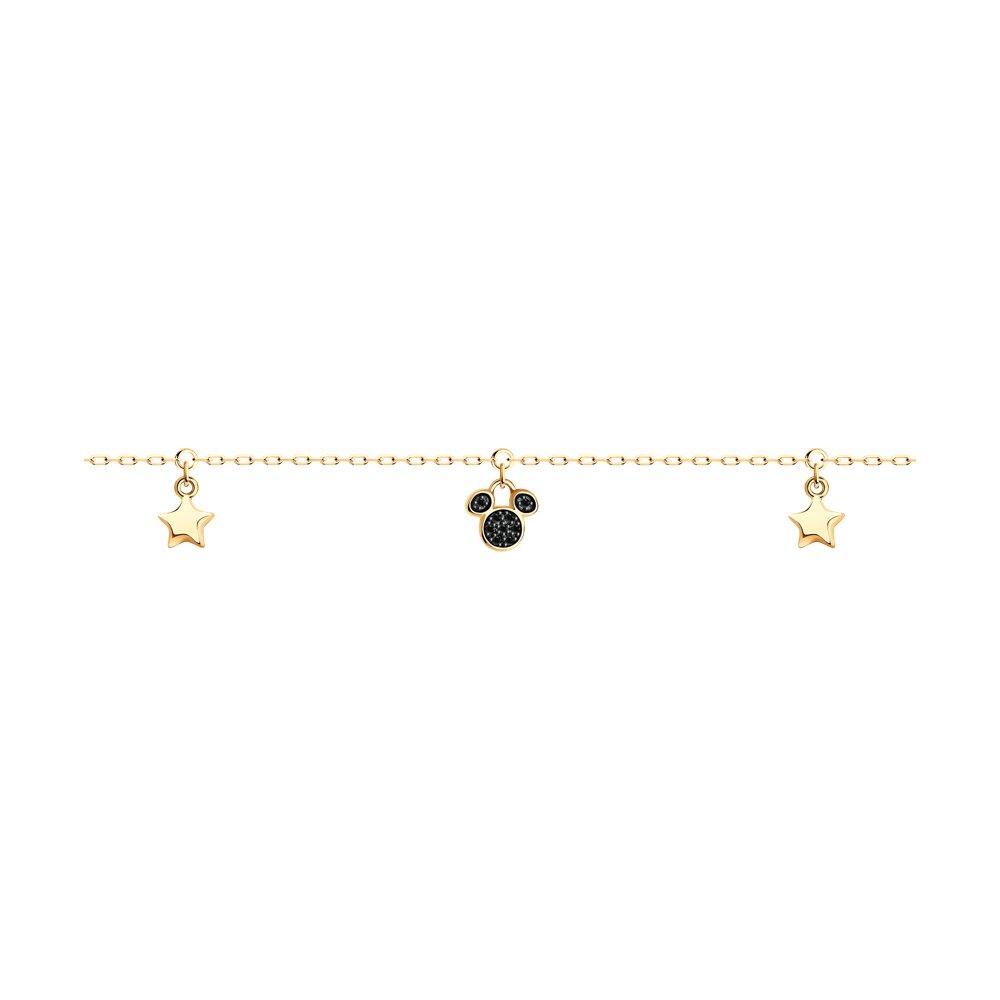 Фото - Браслет SOKOLOV из золота с черными облагороженными бриллиантами подвеска sokolov из желтого золота с бриллиантами и черными облагороженными бриллиантами