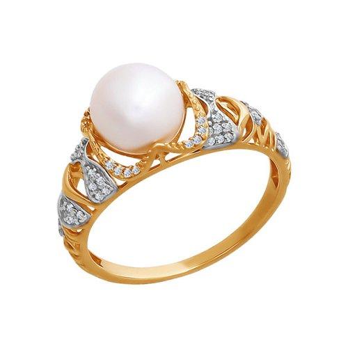Кольцо с жемчугом SOKOLOV из золота